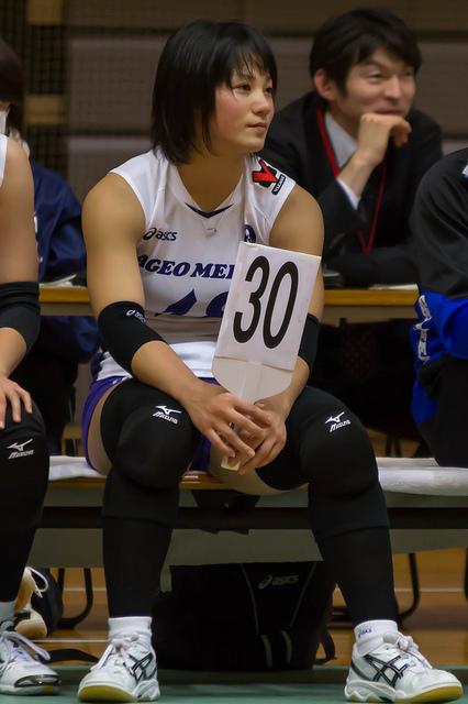 女子バレーの吉村志穂選手