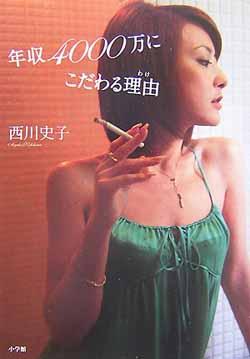 タバコを持つ西川史子