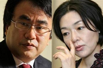三谷幸喜と小林聡美 結婚報告会見