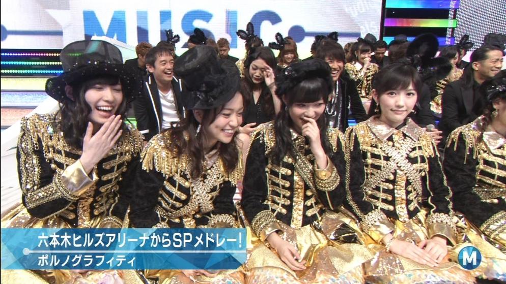 カメラ目線の渡辺麻友 AKB48 ミュージックステーション
