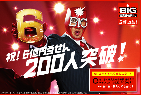 BIG 最高6億円くじ