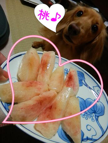 桃、もぉ~ろたぁ♪