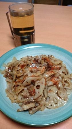 20140113蓮根の炒め物