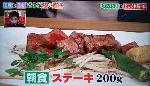 20130815用・朝食ステーキ