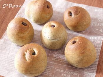 よもぎ甘納豆パン1