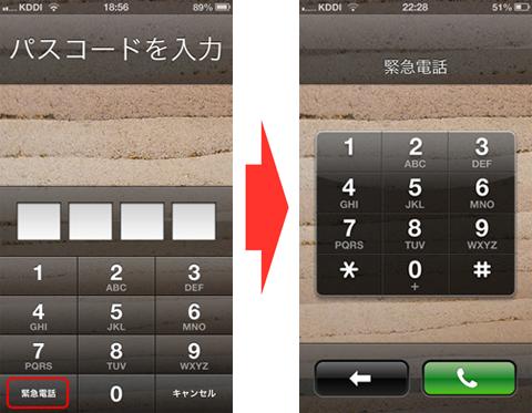 緊急電話ボタン