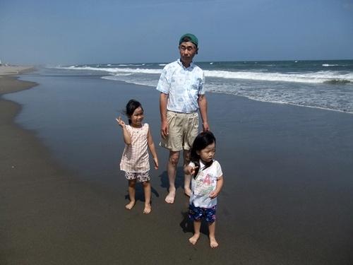 2013.8.19 九十九里の海(孫) 017