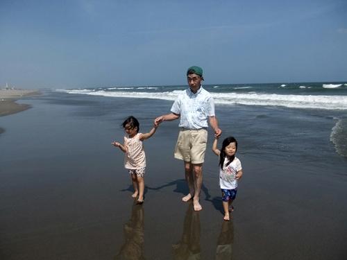 2013.8.19 九十九里の海(孫) 015