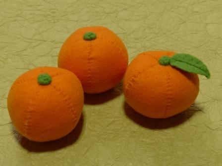 フェルトのフルーツ みかん