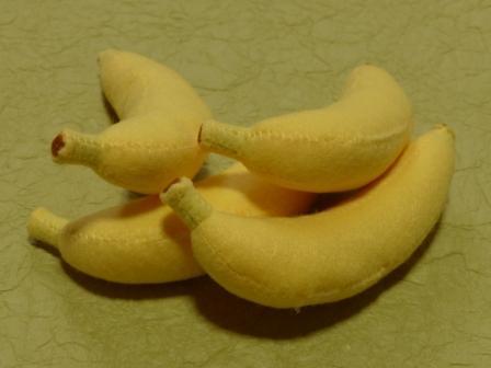 フェルトのフルーツ バナナ
