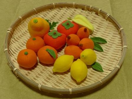 フェルトのフルーツ 黄系1セット