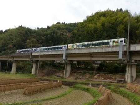 稲木と列車 アンパンマン列車 2