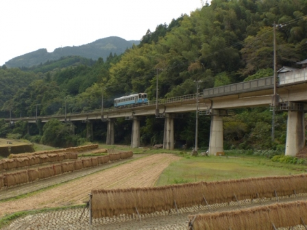 稲木と列車 キハ54形 3
