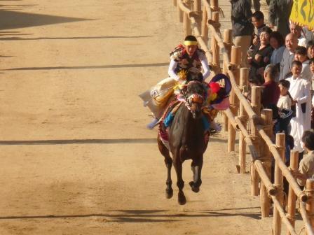菊間祭 お供馬の走り込み 3