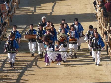 菊間祭 獅子舞 1