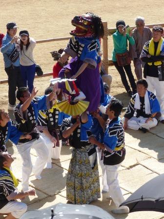 菊間祭 獅子舞 4