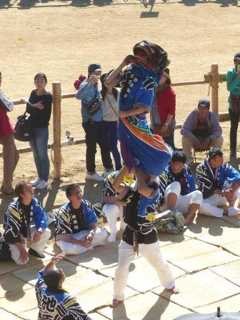 菊間祭 獅子舞 5