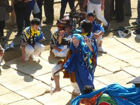菊間祭 獅子舞 6