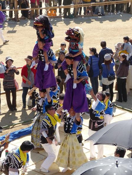 菊間祭 獅子舞 7