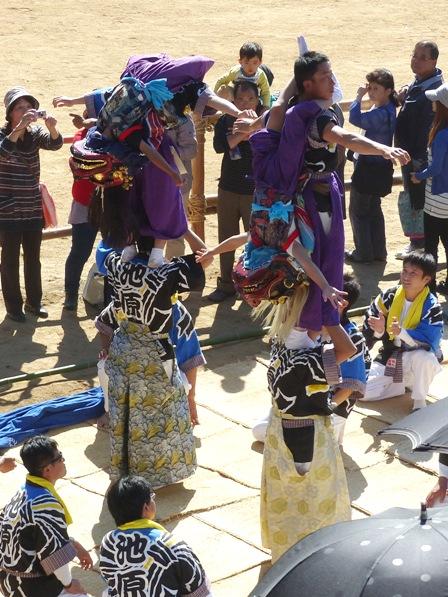菊間祭 獅子舞 8