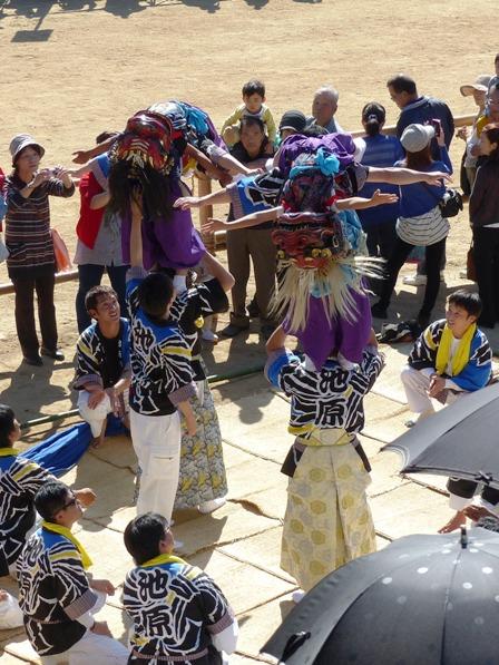 菊間祭 獅子舞 9