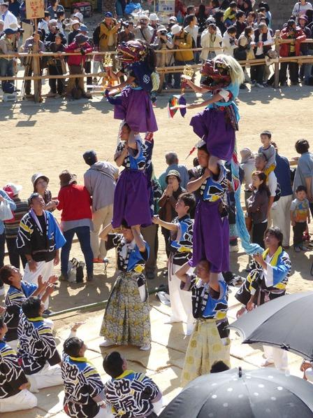 菊間祭 獅子舞 10