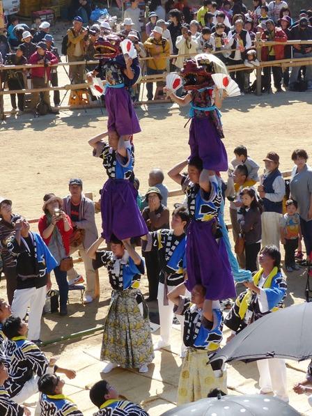 菊間祭 獅子舞 11