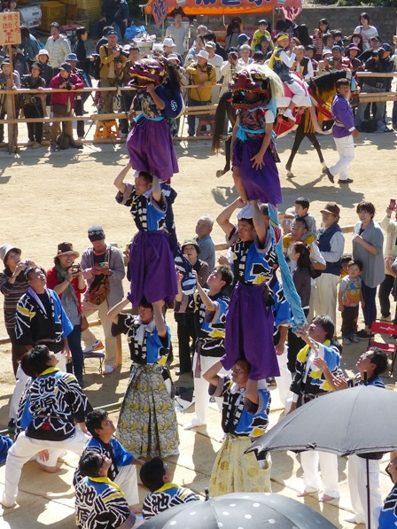 菊間祭 獅子舞 12