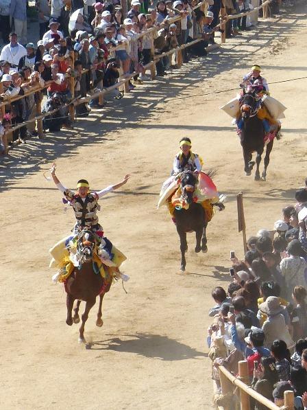 菊間祭 お供馬の走り込み 8