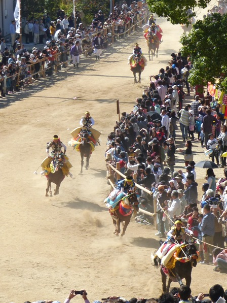菊間祭 お供馬の走り込み 9
