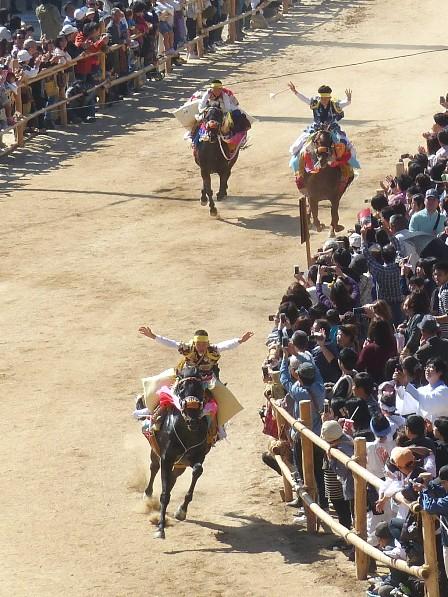 菊間祭 お供馬の走り込み 10