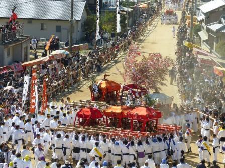 菊間祭 お神輿のお練 2