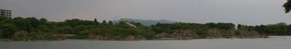 昆陽池と鵜-1