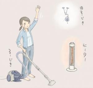掃除機とヒーターを買った