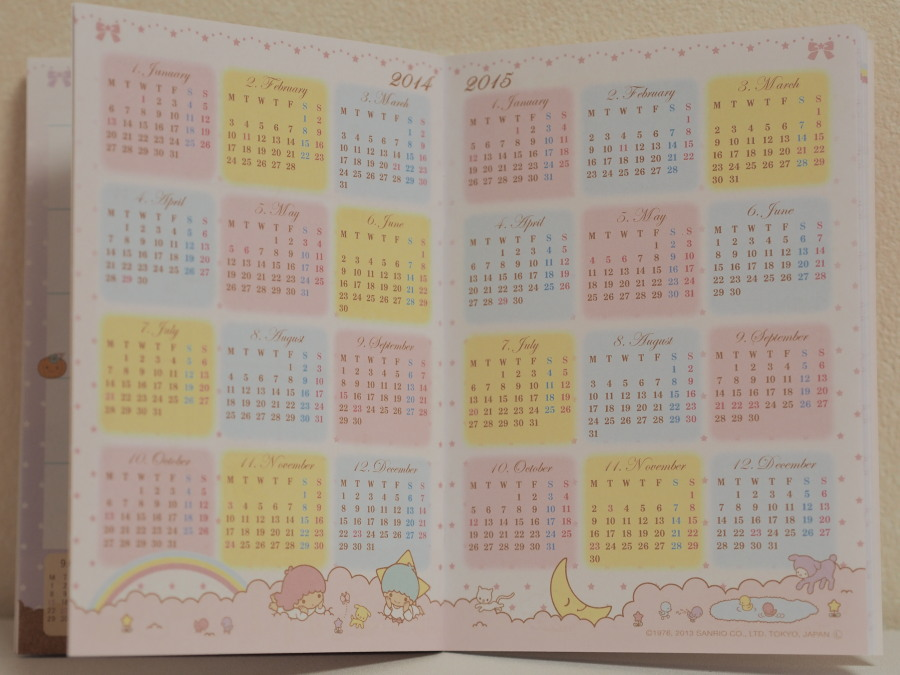年カレンダー