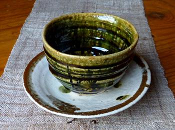 抹茶コーヒー碗皿
