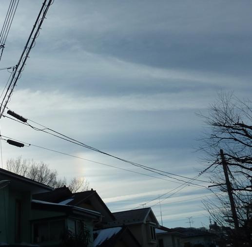 日暈と気になる雲140212b