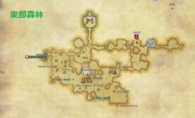 東部森林 全体マップ