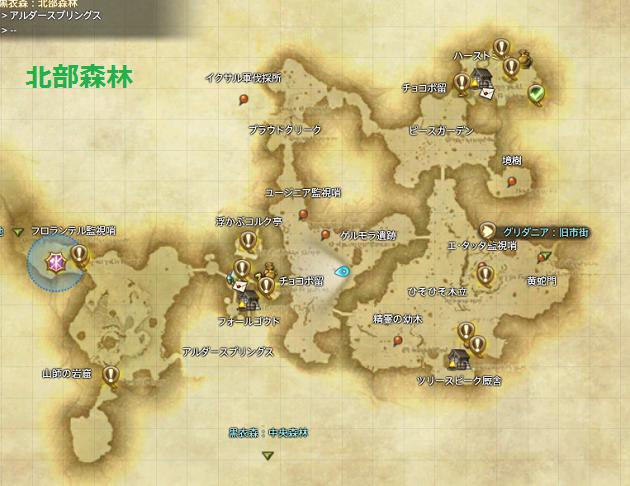 北部森林 全体マップ