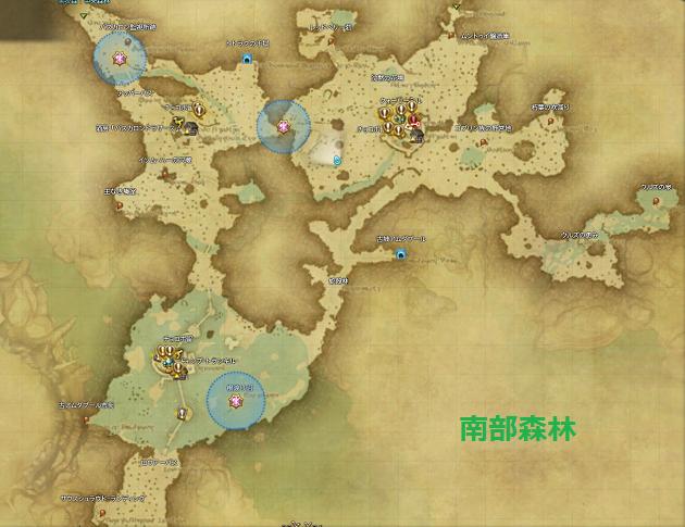 南部森林全体マップ