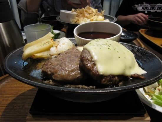 チーズダブルハンバーグステーキ
