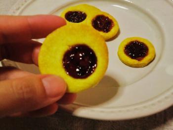 つくりて 10月 カシスジャムクッキー2