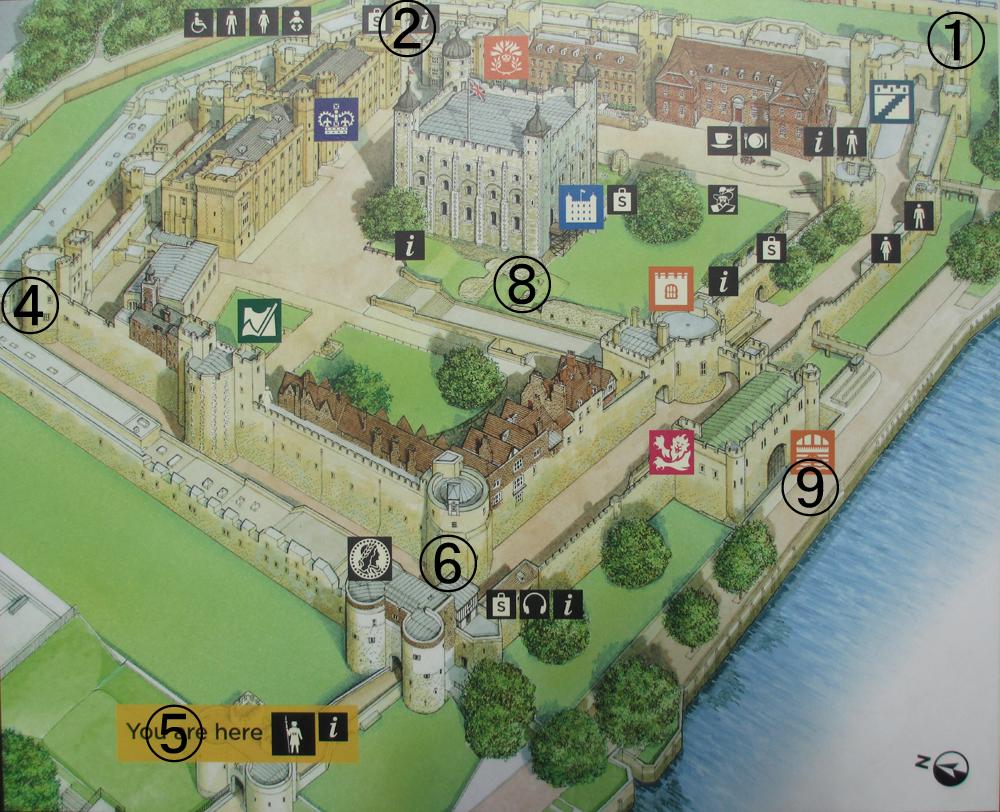 ロンドン塔地図