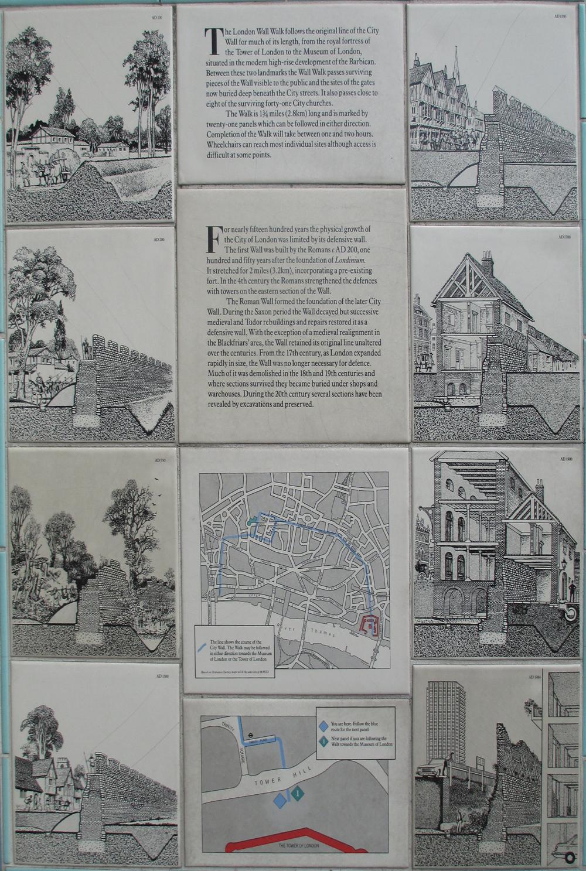 ロンドン城壁概説図