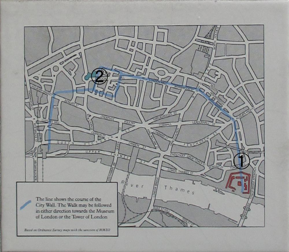 ロンドン城壁地図