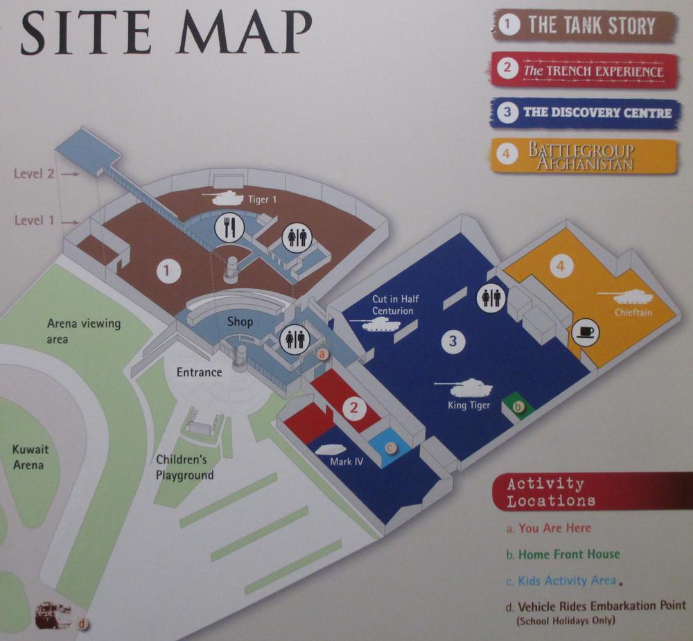 ボービントン戦車博物館地図