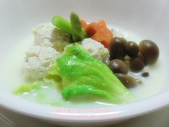 肉団子と白菜の豆乳鍋♪