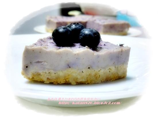 ブルーベリーレアチーズケーキ♪