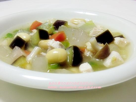 冬瓜と野菜のスープ♪
