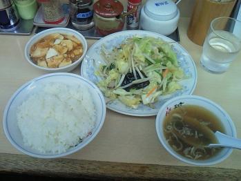 エイト・野菜炒め定食